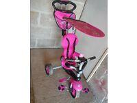 Pink girls smart trike