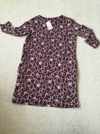 BNWT ladie's burgundy dress from Sainsburys