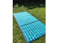 Clyde Canvas Windbreak Blue and Green Stripe