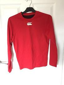 Youth Red Canterbury Skin Thermal Underlay Size Small