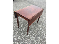 Mahogany Pembroke Leaf Table , in good condition . Size L 36in D 20in Free local delivery.