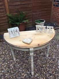 Pine Console Table Shabby Chic
