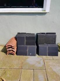 Modern Slate effect and Ridge roof tiles for sale
