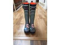 Ladies joules wellies size 3