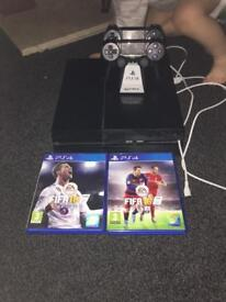 PlayStation 4 with FIFA 18 and FIFA 16