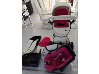 Mima Xari travel system with car seat and base