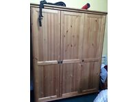 Large wardrobe solid wood