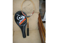 DUNLOP MAXPLY McENROE vintage wood racket, collectable