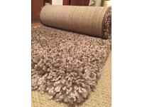 RUG & HALL RUNNER 160 x230cm 61cm x 91cm (runner) brown and beige natural mix thick pile.