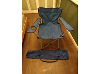 4 x blue camping chairs