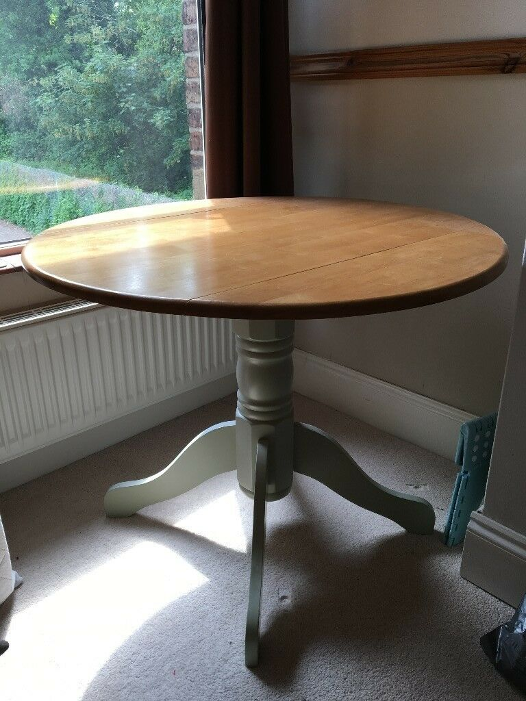 Attractive Round Table With Fold Down Sides