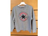 Childrens Converse Chuck Patch Athletic Grey Crew Neck Sweatshirt