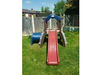 Childrens climbing frame and slide