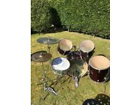 Drum kit for sale, £120 O.N.O, perfect for beginners