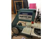 Draper Bandsaw 250 BS250, with sanding wheel