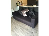 One used ikea black sofa 5 months old
