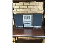 Compact stereo including CD player, radio and record player