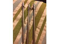 "Three 12"" carp fishing stainless steel bank sticks"
