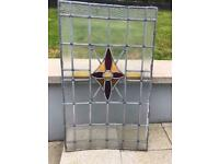 Stained glass leaded window