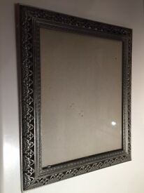 Metal photograph frame, from Selfridges, measures 30cm high by 25 cm wide