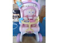 Fisher Price MY FIRST PUSHCHAIR & MY FIRST DOLL Nice condition