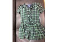 Ralph Lauren Girls Party Dress Tartan Silk Girl ages 8