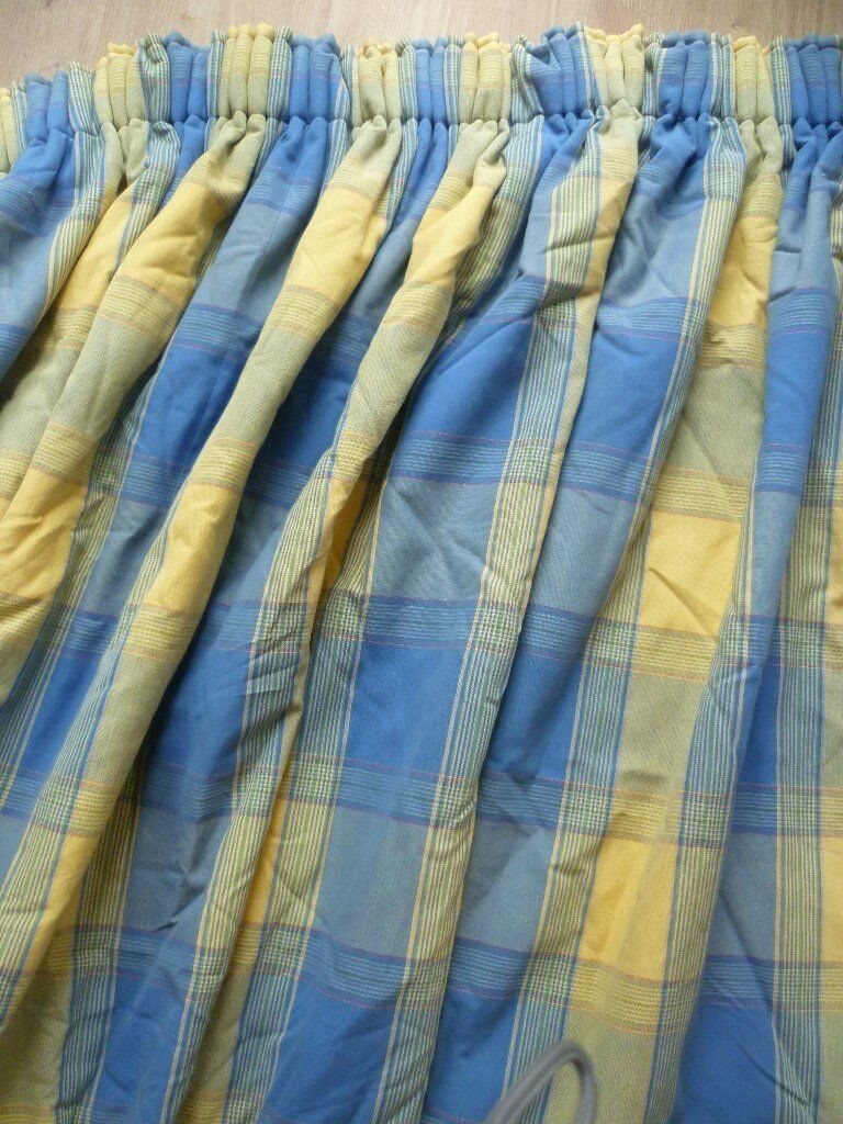 Long, heavy set of curtains for French Windows