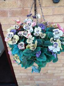 Artificial Hanging Basket large