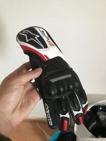 Alpinestars sp8 large leather race gloves