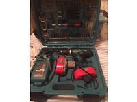 Makita drill and accessories