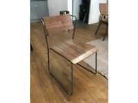 8 x Industrial Dining Chairs from Cult Furniture: Gunmetal and Walnut finish BRAND NEW
