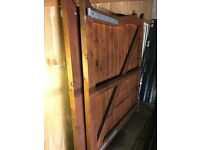 New pair of arch top timber gates.