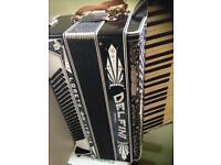 Antique DELFINI accordion