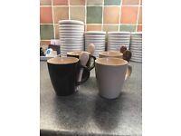 Four Mini Mugs including Spoons