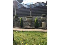 3 Sandstone planters - garden pots