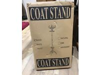 Black wooden coat stand brand new unopened