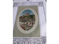 Cross stitch kit CORFE CASTLE