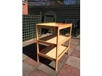Baby changing table unit with 2 shelves