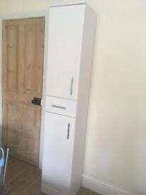 White gloss bathroom cabinet