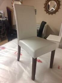 White leather chairs new £50 each