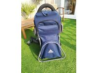 Vaude baby carrier. Good condition. Includes changing mat, sunshade and rain cover