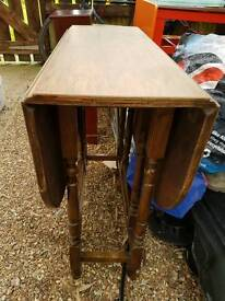 Fold down wooden table