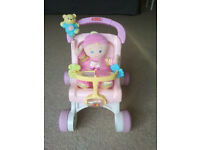 Fisher price first dolls pushchair and Doll