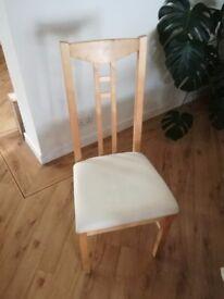 6 beech wood chairs