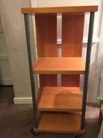 Wooden Hi if unit / shelving / storage
