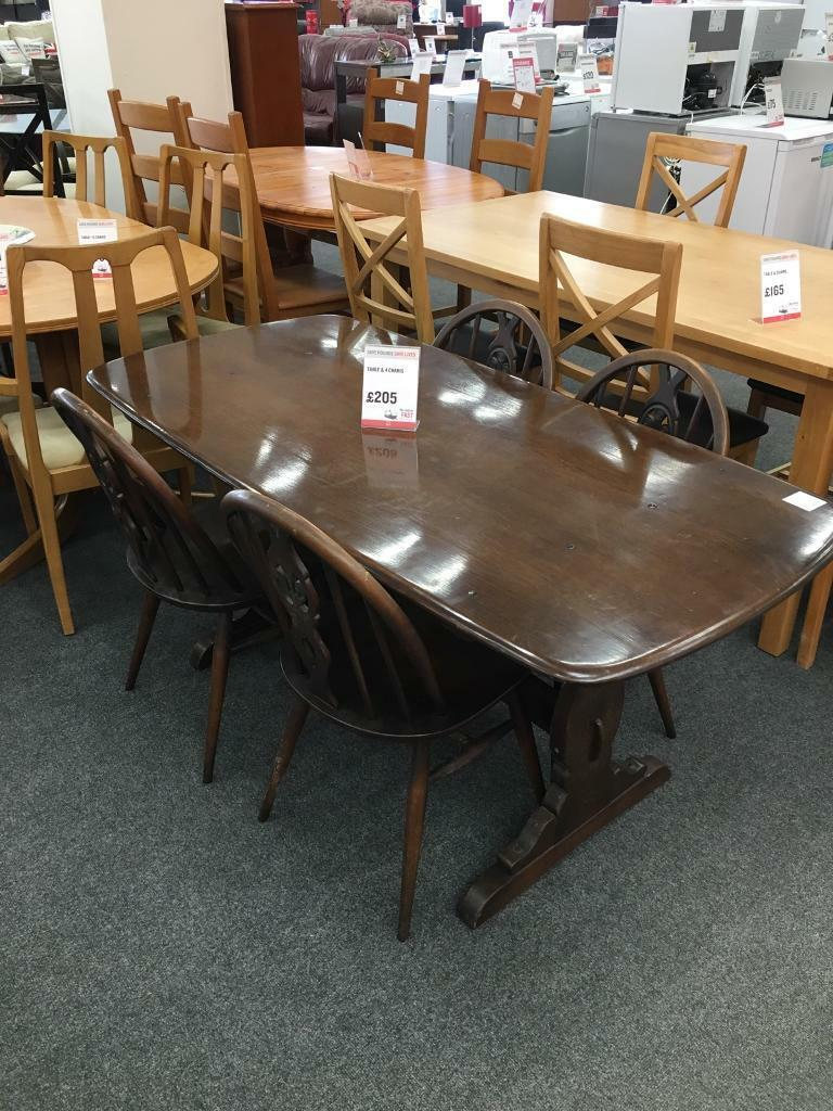 BHF ERCOL TABLE AND FOUR CHAIRS Exeter