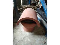 Clay Hood Top Chimney Roof Flue Insert 185mm