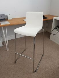 IKEA white chrome bar stool chair