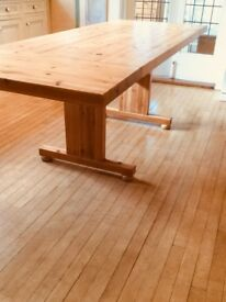 Huge Farmhouse style Solid Pine Oblong Table
