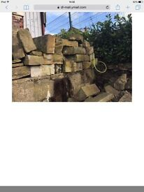 BARGIN STONE, lots of stone, flat, lentils ideal for making benches